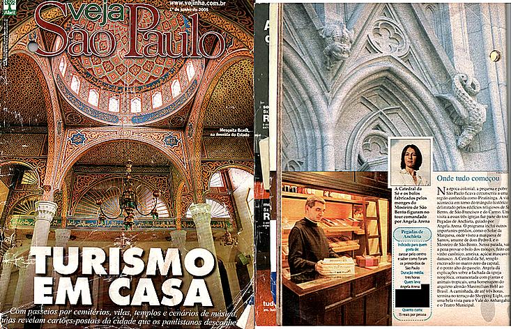 Revista Veja São Paulo reportagem Turismo em Casa